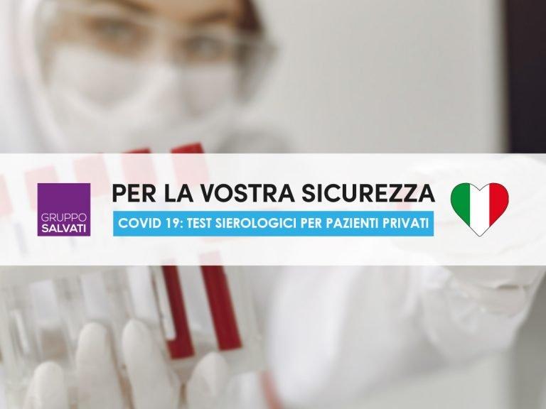 Test Covid 19 per pazienti privati